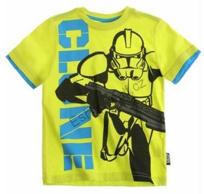 Tričko Star Wars- The Clone Wars vel. 116 limetkové