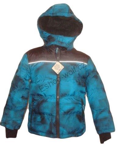 Chlapecká zimní bunda Wolf vel. 92,98,104 petrolejová