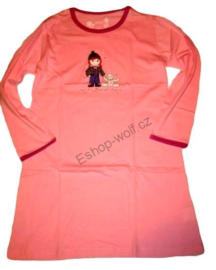 Dívčí noční košile Wolf vel. 92,98,104,110,116,122 růžová