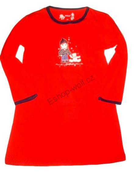 Dívčí noční košile Wolf vel. 92,98,110,116,122 červená