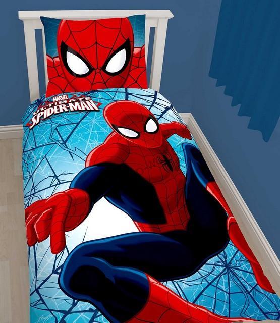 Povlečení Spiderman 140 x 200 cm, 60 x 70 cm