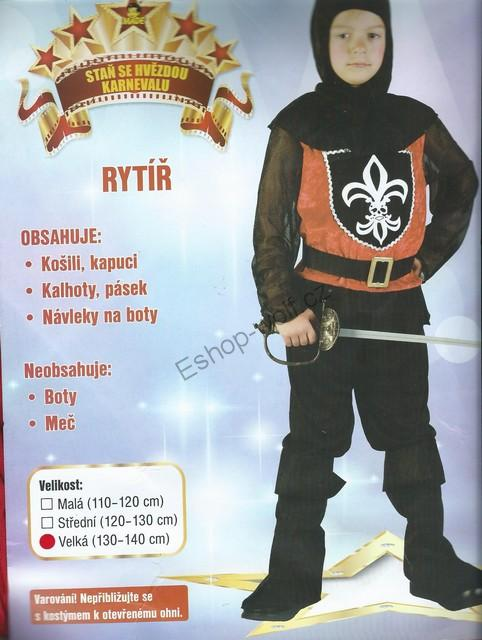Karnevalový kostým kostým Rytíř 130-140 cm