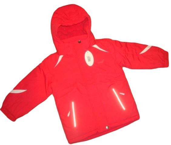 Dívčí zimní bunda Wolf vel. 98,110,116,122,140 červená