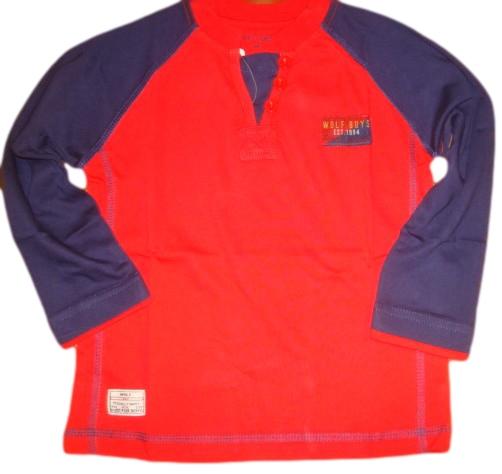 Chlapecké triko Wolf vel. 110 červené - POSLEDNÍ 2 KUSY !!!