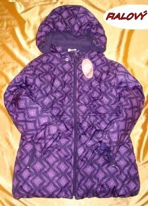 Zimní bunda, kabát Wolf vel. 92/98 FIALOVÝ