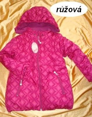 Zimní bunda, kabát Wolf vel. 86/92 růžový