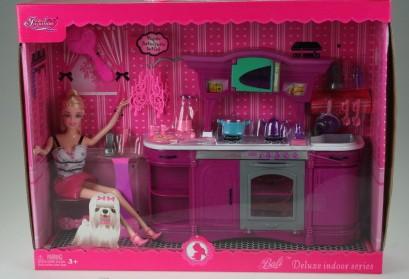 Nábytek pro panenku + panenka