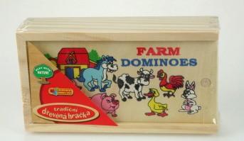 Dřevěné domino farma