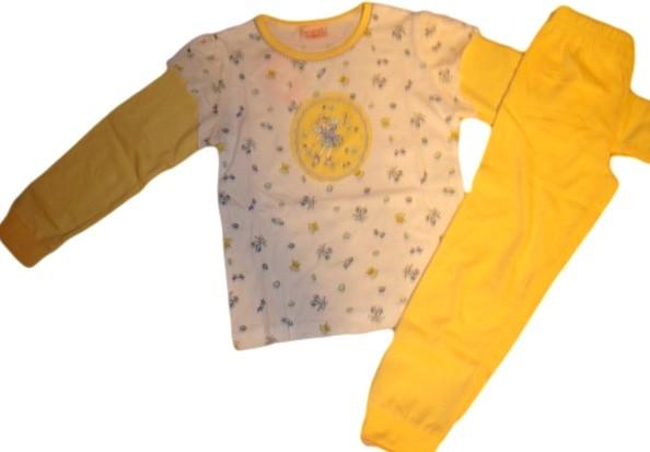 Dívčí pyžamo Wolf vel. 110,122 žluté