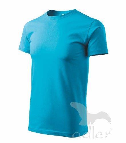 Klasické rovné pánské tričko Adler vel. S,M,L,XL,XXL tyrkysové