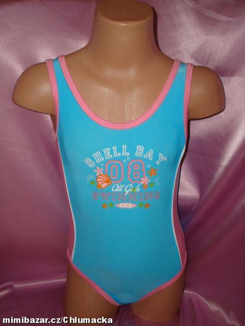 Jednodílné dívčí plavky vel. 92 tyrkysové