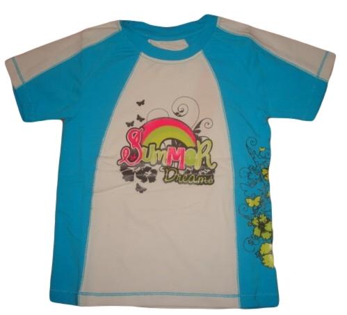 Dívčí tričko Wolf vel. 104,110,116,122,128 modrobílé