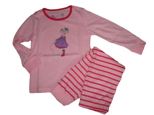 Dívčí pyžamo Wolf vel. 116,128 růžové