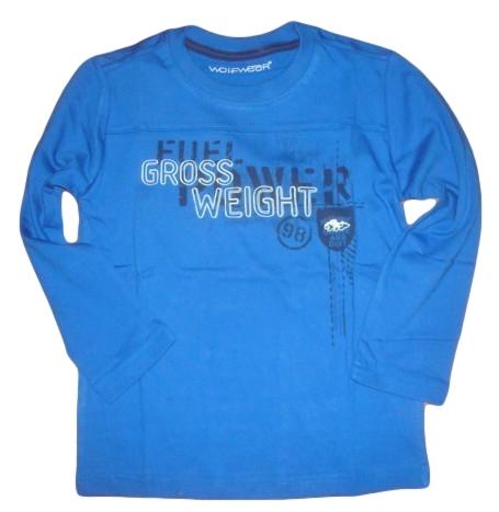 Chlapecké triko Wolf vel. 116 modré
