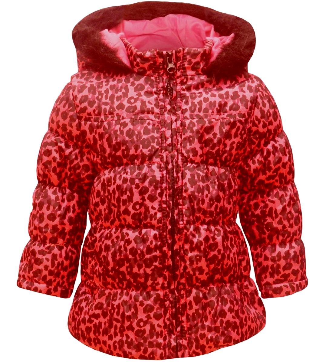 Dívčí zimní kabátek Minx vel. 80/86, 86/92, 92/98,98/104 růžový s černou