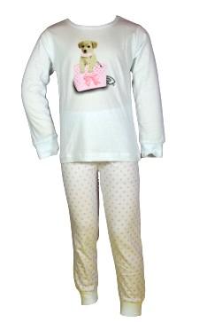 Dívčí pyžamo Wolf vel. 104,110,116,122,128 bílé