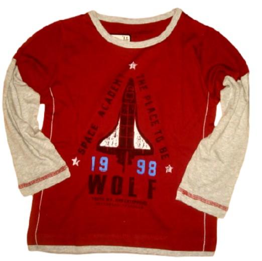 Chlapecké triko Wolf vel. 98 vínové