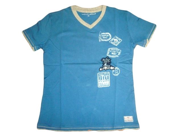Chlapecké tričko Wolf vel. 128,146 světle modré