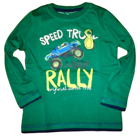Chlapecké triko Wolf vel. 98 zelené