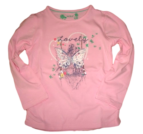 Dívčí triko Wolf vel. 98,104,110,116 růžové