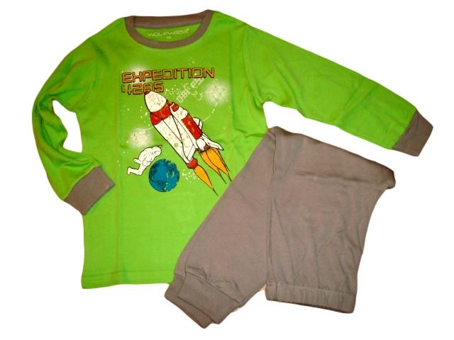Chlapecké pyžamo Wolf silnější vel. 110 zelené