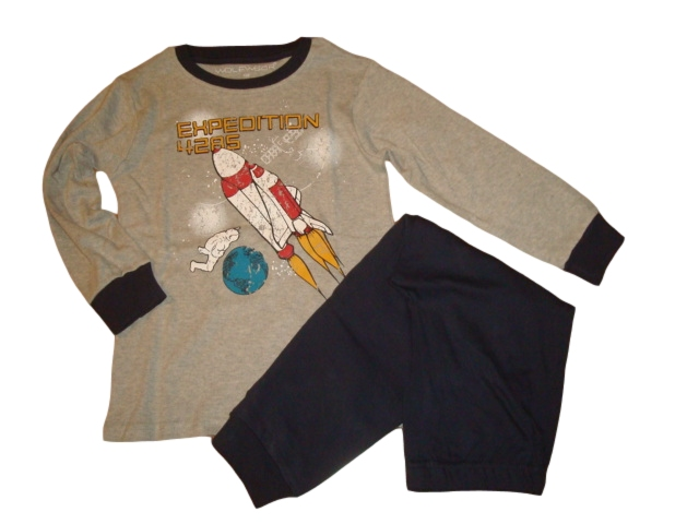 Chlapecké pyžamo Wolf silnější vel. 100,110,120,130 šedé