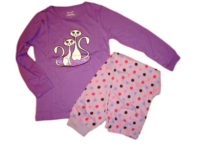 Dívčí pyžamo Wolf vel. 140,170 fialové