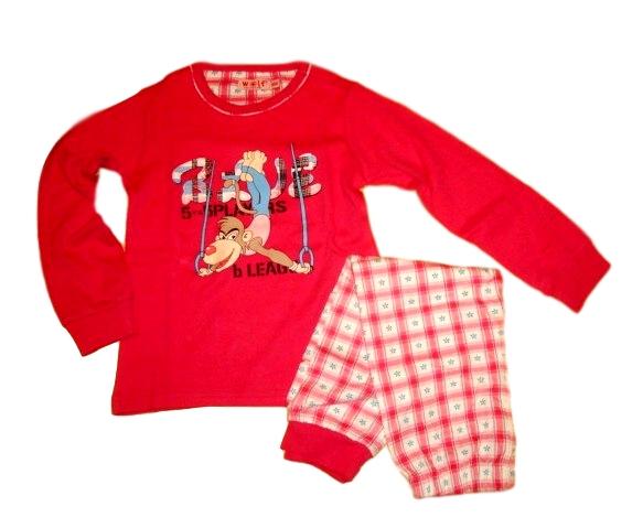 Dívčí pyžamo Wolf silnější vel. 100,110,120,130 tmavě růžové