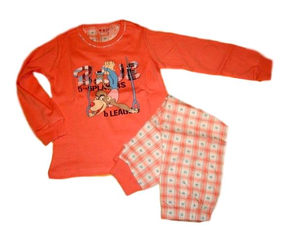 Dívčí pyžamo Wolf silnější vel. 100,110,120,130 meruňkové