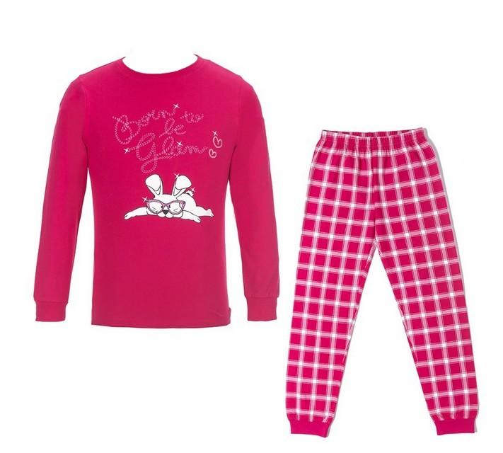 Dívčí pyžamo Wolf vel. 140,150,160,170 tmavě růžové