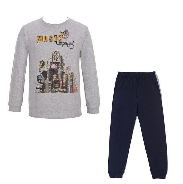 Chlapecké pyžamo Wolf vel. 140,150,160,170 šedý melír