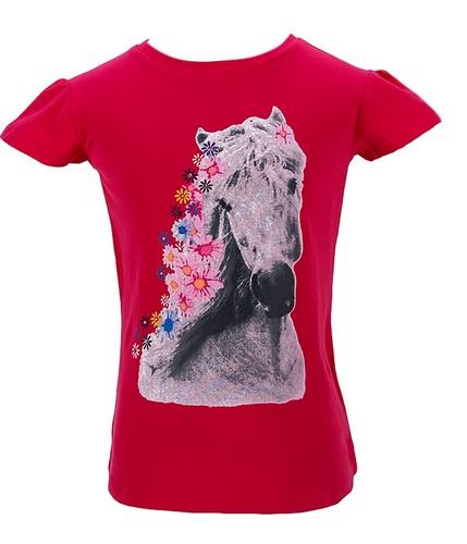 Dívčí tričko Wolf vel. 98,104,110,116,122 tmavě růžové