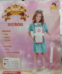 Karnevalový kostým sestřička vel. 120-130