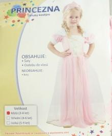 Karnevalový kostým Princezna vel. 92-104 barva růžová