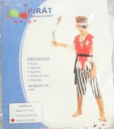 Karnevalový kostým Pirát vel. 120-130