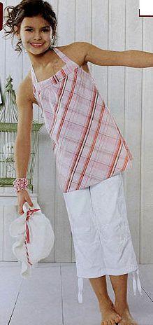 3/4 plátěné kalhoty, capri kalhoty vel. 122 bílé