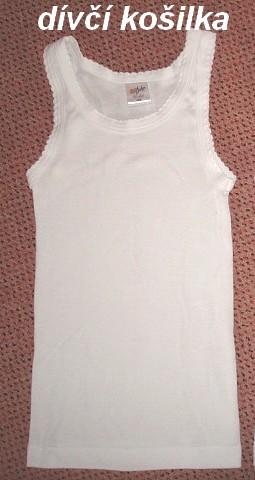 Dívčí košilka vel. 122,128,134 bílá